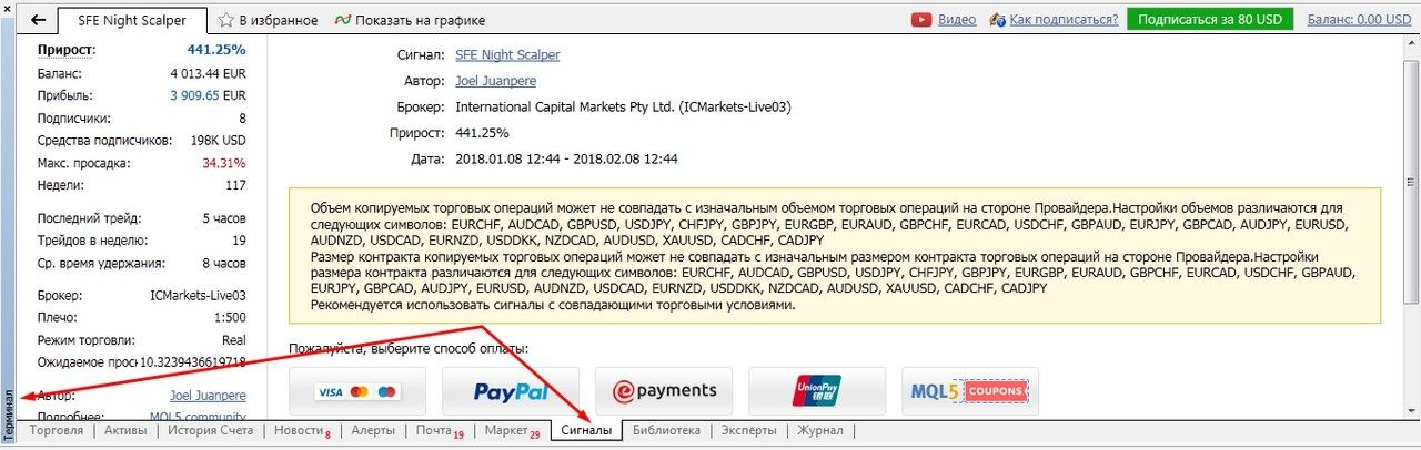 Арендуй чужую ТС. Как копировать сделки на MQL5.com 6